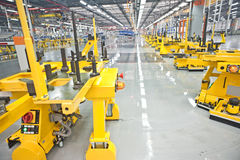 Modern car production line Royalty Free Stock Images