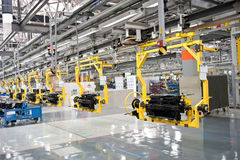 Modern car production line Stock Images