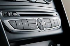Modern car radio. Close up stock photo
