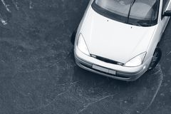Modern car in the rain Stock Images