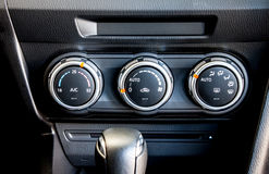 Modern car's climate control switch Stock Images