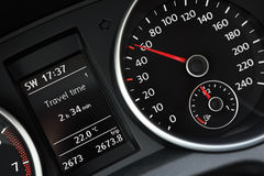 Modern car's dashboard close-up. Royalty Free Stock Photos