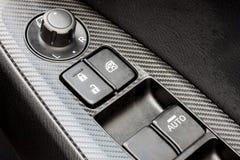 Modern car's window control switch Stock Photos