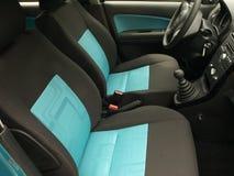 Modern car seat. Car textile seats in modern city car stock photos