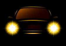 Modern car silhouette Royalty Free Stock Photos