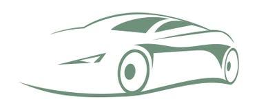 Modern car silhouette Royalty Free Stock Photo