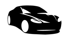 Modern car silhouette vector Royalty Free Stock Images
