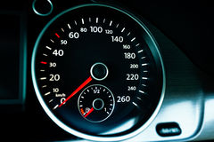 Modern car speedometer Royalty Free Stock Images