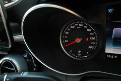 Modern car speedometer and Fuel gauge Royalty Free Stock Photos