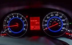 Modern car speedometer Stock Photos