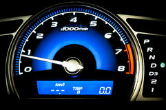 Modern car speedometer Stock Photography
