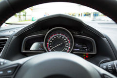 Modern car speedometer Stock Photos