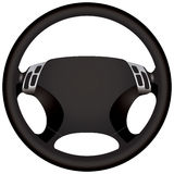 Modern car steering wheel. A modern car steering wheel for a sports car Stock Photography