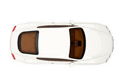 modern car top view Royalty Free Stock Image