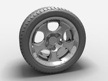 Modern Car Wheel Royalty Free Stock Photography