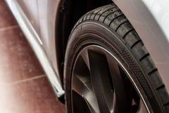 Modern car wheel Stock Photos