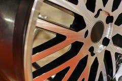 Modern car wheel Stock Image