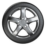 Modern car wheel front view isolated on a white background Stock Photography