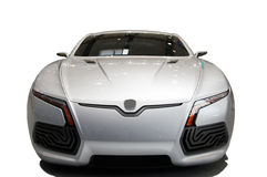 Modern car on white Royalty Free Stock Images