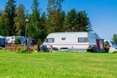 Modern caravan park. Stock Images