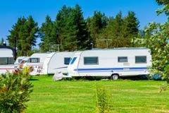 Modern caravan park. Royalty Free Stock Photo
