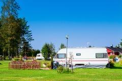 Modern caravan park. Royalty Free Stock Images