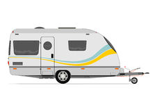 Modern caravan. Vector without gradients on one layer Royalty Free Stock Photo