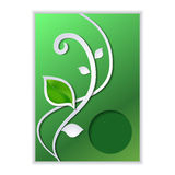 Modern card with eco green leaves. Modern card, brochure with eco green leaves for design vector illustration