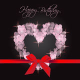Happy Birthday card. Modern card with hearts shape for Birthday event Royalty Free Stock Image