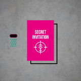 Modern card template with mystic symbols and wacky colors Stock Photo