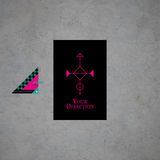 Modern card template with mystic symbols and wacky colors Royalty Free Stock Photos