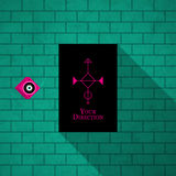Modern card template with mystic symbols and wacky colors Stock Photography