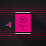 Modern card template with mystic symbols and wacky colors Stock Images