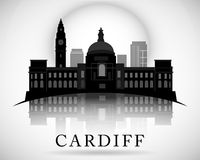 Modern Cardiff City Skyline Design. Wales Royalty Free Stock Photo