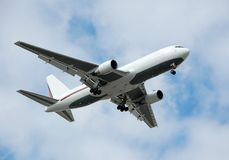 Modern Cargo Jet In White Color Stock Photos