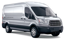 Modern cargo van Stock Photo