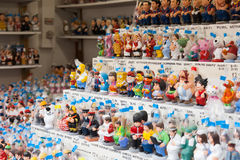 Modern caricature  caganers on counter Royalty Free Stock Photo