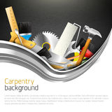 Modern carpentry background Stock Photos