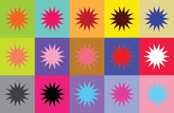 Modern carpet. With colorful squares and stars. Vector illustration Stock Photo