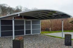 Modern carport car garage parking Stock Photography