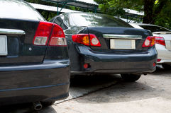 Modern cars is the parking garden Royalty Free Stock Photo