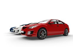 Modern Cars Royalty Free Stock Photography