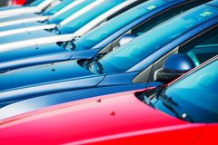 Modern Cars in Stock Royalty Free Stock Photos