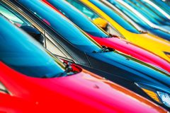 Modern Cars Stock Stock Photo