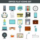 Modern cartoon icons set of office equipment. Premium quality cartoon symbol collection set of office equipment. Cartoon flat pictogram pack. cartoon vector Royalty Free Stock Images