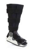 Modern cast for a broken leg Stock Image