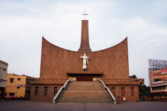 Modern Catholic Church in the Indian city Royalty Free Stock Image