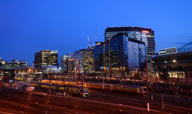 Modern CBD buildings in night-southern cross station Royalty Free Stock Photography