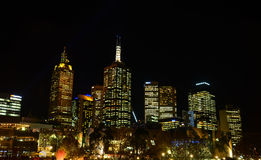 Modern CBD buildings in night Stock Images