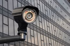 Modern CCTV camera. royalty free stock photography